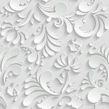 Abstract Floral 3d Seamless Pattern Royalty Free Stock Images
