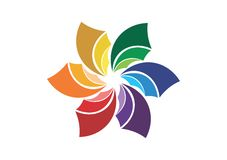 Abstract flower logo,company symbol,corporate social media icon Royalty Free Stock Image