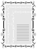 Abstract frame for text with ornaments Royalty Free Stock Images