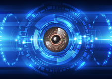 Abstract future technology  security system background, vector illustration Stock Photography