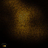 Abstract gold and black dots background Stock Photo