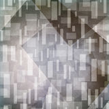Abstract gray background. Artsy rectangles and triangle shapes in random pattern. Stock Photography