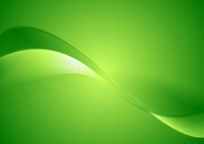 Abstract green smooth waves background Stock Image