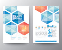 Abstract hexagon Poster Brochure Flyer design template Layout Stock Image