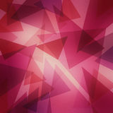 Abstract layered pink and purple triangle pattern with bright center, fun contemporary art background design Stock Photos