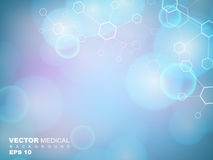 Abstract molecules medical background. Royalty Free Stock Photography