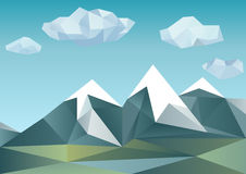 Abstract mountains in polygonal style Royalty Free Stock Photography