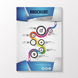 Abstract origami style brochure template with business path. Flyer Layout. Infographic Elements. Vector illustration Royalty Free Stock Photos