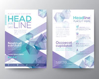 Abstract polygon design vector template layout for magazine brochure flyer Stock Photo