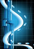 Abstract poster with a three-dimensional design Stock Photo