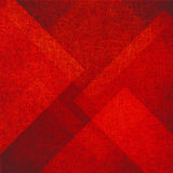 Abstract red background with triangle and diamond shapes in random pattern with vintage texture Stock Photos