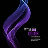 Abstract smooth  light lines vector background Royalty Free Stock Photos