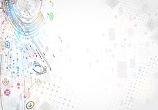 Abstract technology business background. Stock Image