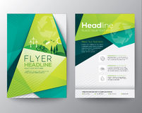 Abstract Triangle Flyer design template Royalty Free Stock Photography