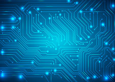 Abstract vector background with high tech circuit board Royalty Free Stock Photos