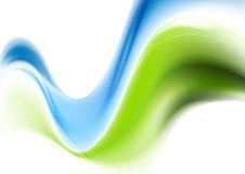 Abstract wavy smooth design. Gradient mesh Royalty Free Stock Images