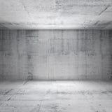 Abstract white interior of empty concrete room Stock Photos
