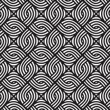 Abstract wicker black and white pattern. Seamless vector pattern. Royalty Free Stock Photo
