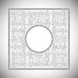 Abstrakcjonistyczny labirynt - rama Zdjęcia Royalty Free