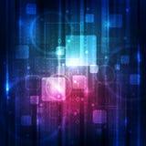 Abstrakt begrepp för bakgrund för digital teknologi för vektor Arkivfoto