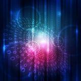 Abstrakt begrepp för bakgrund för digital teknologi för vektor Arkivbilder