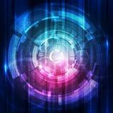 Abstrakt begrepp för bakgrund för digital teknologi för vektor Royaltyfria Bilder