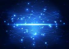Abstrakt framtida nätverksteknologi för vektor, illustrationbakgrund Arkivfoto
