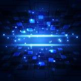 Abstrakt framtida teknologibegrepp, illustrationbakgrund Royaltyfri Fotografi