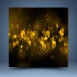 Abstrakt mall för guling och för svart Arkivbilder