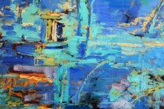 abstrakt oljemålning Royaltyfri Bild