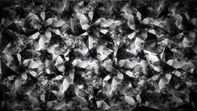 Abstrakt svartvit triangelpolygontapet Royaltyfri Foto