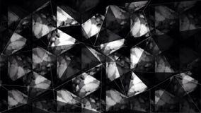 Abstrakt svartvit triangelpolygontapet Arkivbilder