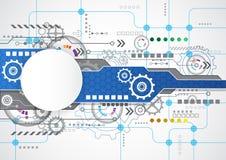 Abstrakt teknologisk bakgrund med olika teknologiska beståndsdelar illustrationvektor Royaltyfria Foton