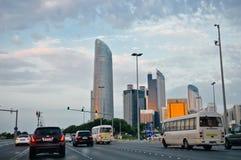 Abu Dhabi die Hauptstadt von UAE Stockfotografie
