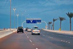 Abu Dhabi die Hauptstadt von UAE Stockbild