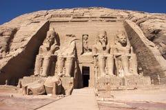 Abu Simbel, Oud Egypte Stock Foto