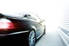 Accelerazione nera dell'automobile Fotografia Stock Libera da Diritti