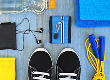Accessories for fitness classes. Stock Images