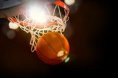Acción del juego de baloncesto Fotografía de archivo