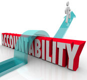 Accountability Person Running from Responsibility Royalty Free Stock Photography