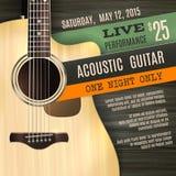 Acoustic Guitar Poster Stock Photos