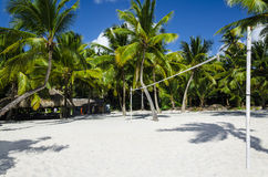 Active recreation on the Caribbean Islands, volleyball Royalty Free Stock Image