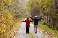 Active seniors Royalty Free Stock Images