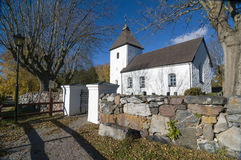 Adelso medieval church Sweden Royalty Free Stock Photo