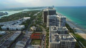 Aerial video of Bal Harbour Florida stock footage