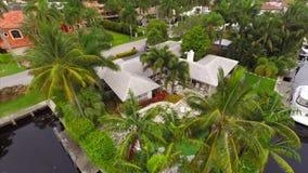 Aerial video of luxury homes stock video footage