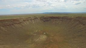 Aerial video Meteor Crater stock video