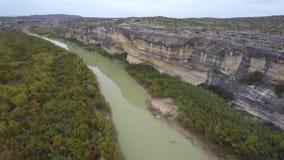 Aerial video Rio Grande Texas stock video footage