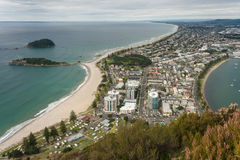 Aerial view of Bay of Plenty with Tauranga town Stock Photos