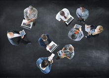 Aerial View Business People Working Community Togetherness Conce Stock Image